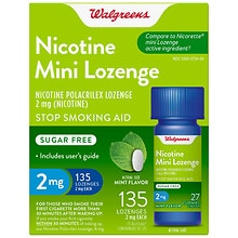 Walgreens Nicotine 2MG Mint Mini-Lozenges