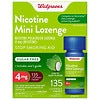 Walgreens Nicotine 4MG Mint Mini-Lozenges