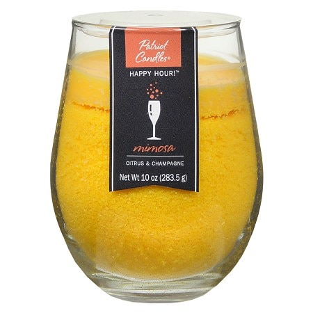 Patriot Candles Happy Hour Jar Candle Citrus & Champagne Dark Yellow