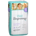 Well Beginnings Premium Diapers Jumbo Newborn