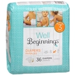 Well Beginnings Premium Diapers Jumbo 3