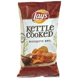 Lay's Kettle Cooked Flavored Potato Chips Barbeque Flavor
