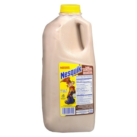 Nestle Nesquik Reconstituted Chocolate Milk 64 oz Bottle Chocolate