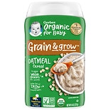 Gerber Organic Oatmeal Whole Grain Cereal