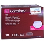 Walgreens Certainty Women's Smooth Shape Briefs L/XL