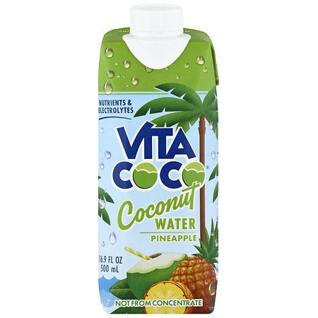 Vita Coco Pure Coconut Water 16.9 oz Bottle Pineapple