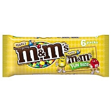 M&M's Chocolate Candies, Fun Size Peanut Milk Chocolate,6 Pack