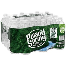 Poland Springs 100% Natural Spring Water 24 Pack 16.9 oz Bottles