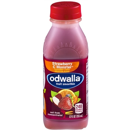 Odwalla Flavored 4 Juice Smoothie Blend 12 oz Bottle Strawberry