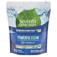 Seventh Generation Automatic Dishwasher Detergent Pacs Free & Clear
