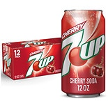 7-Up Soda Cherry,12 oz Cans