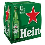 Heineken Premium Lager Beer 12 oz Bottles 12 Pack