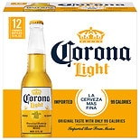 Corona Light Beer 12 oz Bottles 12 Pack