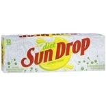 Diet Sun Drop Soda 12 Pack 12 oz Cans Citrus,12 Pack