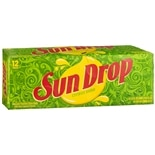 Sun Drop Soda 12 oz Cans Citrus