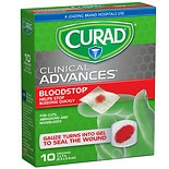 Curad Blood Stop Sterile Packets 1 x 1 in (25 x 25 mm) White