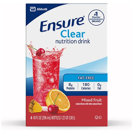 Ensure Active Clear Nutrition Protein Drink Mixed Fruit