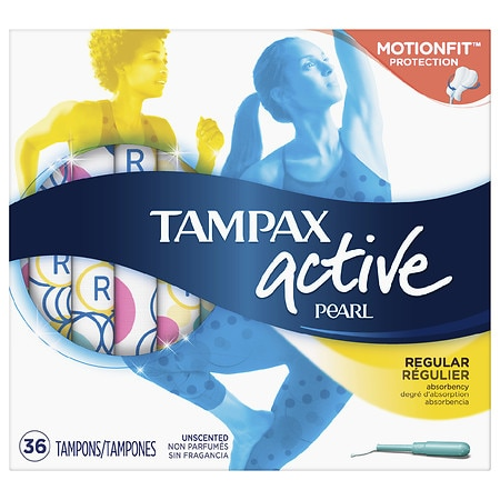 Tampax Pearl Active Tampons, Regular Unscented