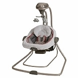 Graco DuetConnect LX Swing & Bouncer Tan & Red Finley
