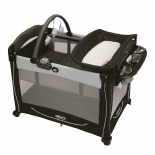 Graco Element Pack N Play Black & Grey Metropolis