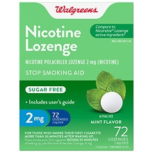 Walgreens Nicotine Stop Smoking Aid Lozenges 2 mg Mint