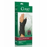 Curad Wrist & Forearm Splint with Abducted Thumb-Right Black