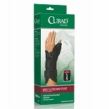 Curad Wrist & Forearm Splint with Abducted Thumb-Right X-Small Black