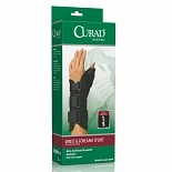 Curad Wrist & Forearm Splint with Abducted Thumb-Right Medium, 6.5-8 in Black