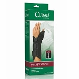 Curad Wrist and Forearm Splint with Abducted Thumb-Right medium black