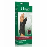 Curad Wrist & Forearm Splint with Abducted Thumb-Left X-Small Black