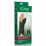 Curad Wrist & Forearm Splint with Abducted Thumb-Left Large Black