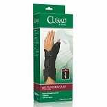 Curad Wrist and Forearm Splint with Abducted Thumb-Left x-large black