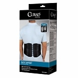 Curad Back Support with Dual-Pulley System Small-Medium Black