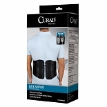 Curad Back Support with Dual-Pulley System large-XL black