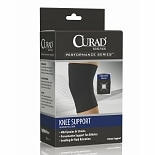 Curad Knee Support Neoprene Pull Over Medium Black