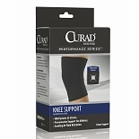 Curad Knee Support Neoprene Pull Over X-Large Black