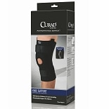 Curad Knee Support Neoprene Hinged with U-Support x-large black