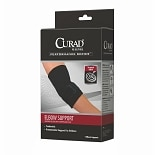 Curad Elbow Support Neoprene Sleeve Compression Strap Medium Black