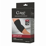 Curad Elbow Support Neoprene Sleeve Compression Strap large black