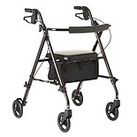 Medline Ultra-Lightweight Freedom Rollator Black