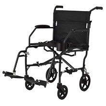 Medline Freedom Ultra-Lightweight Transport Chair Black