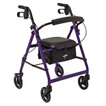 Medline Basic Rollator purple
