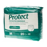 Medline Protect Extra Protective Underwear Moderate-Med 80ct medium white