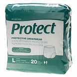 Medline Protect Extra Protective Underwear Moderate-Lar 80ct Large White