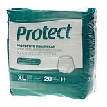 Medline Protect Extra Protective Underwear Moderate 80ct X-Large White