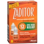 Zaditor Antihistamine Eye Drops Twin Pack (2 bottles - 0.17 fl oz each)