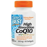 Doctor's Best High Absorption CoQ10, 100mg, Softgels