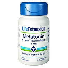 Life Extension Melatonin 3mg, Timed Release, Tablets