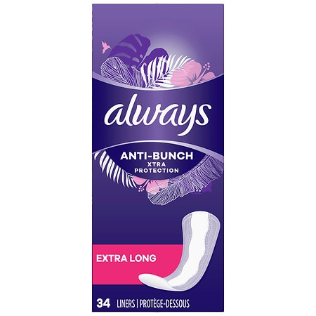 Always Xtra Protection Daily Liners Unscented,Extra Long
