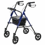 Lumex Set & Go Wide Height Adjustable Rollator Blue